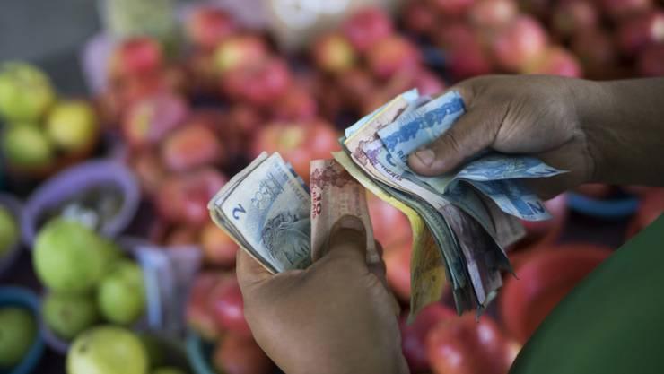 Wirtschaftskrise in Brasilien: Rückgang des Bruttoninlandprodukts und hohe Inflationsrate.
