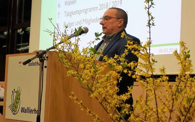 Präsident André Hess konnte 65 Teilnehmer begrüssen