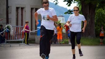 Betreute und Mitarbeitende der Stiftung Zeka rannten ebenfalls mit – für die Stiftung kamen bei der «Charity-Stafette» 2250 Franken zusammen.
