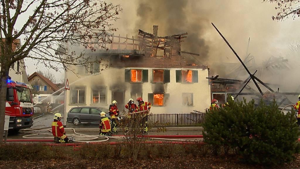 Guntershausen (TG): Wohnhaus bei Brand zerstört