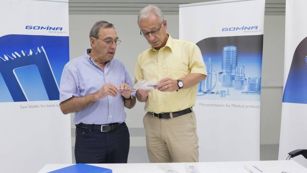Für Geschäftsführer Bruno Erzinger (rechts), hier mit Verwaltungsratspräsident Urs Mutter, ist der Preis eine Bestätigung seiner Firmenstrategie.