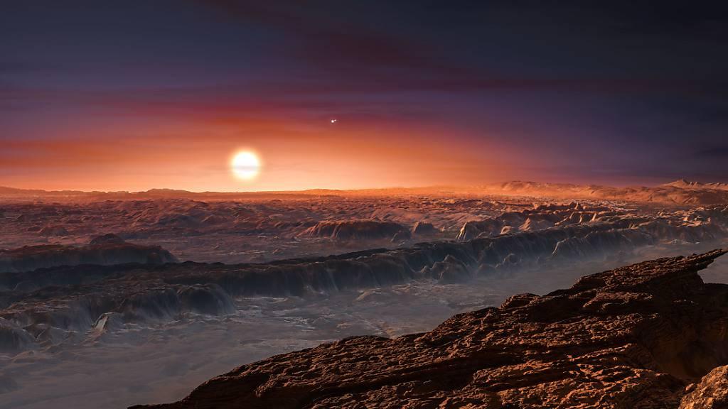 So könnte es auf dem Planeten Proxima b aussehen (Illustration).