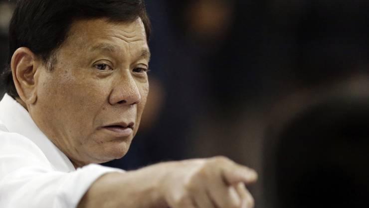 Auf seine Veranlassung hin zieht sich Manila aus dem Internationalen Strafgerichtshof (ICC) zurück: Rodrigo Duterte, Präsident der Philippinen. (Archiv)