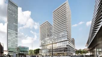 Projektvorschlag von Herzog & de Meuron für den neuen Rosentalturm am Basler Messeplatz.