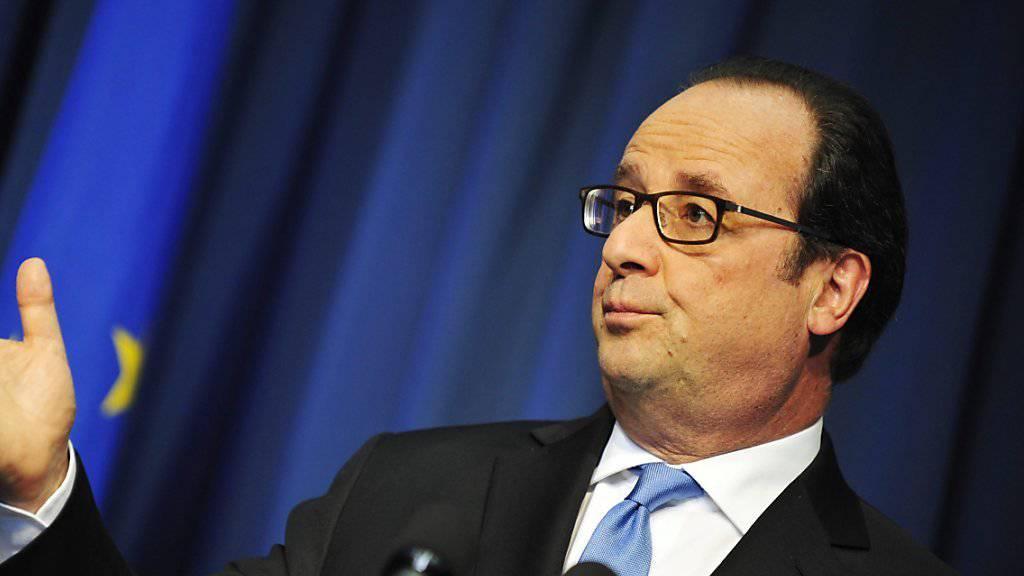 Frankreichs Präsident Hollande hat die Arbeitsmarktreform durch das Parlament gebracht. (Archiv)