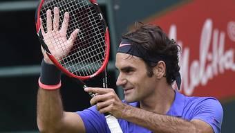 Roger Federer freut sich über Finaleinzug
