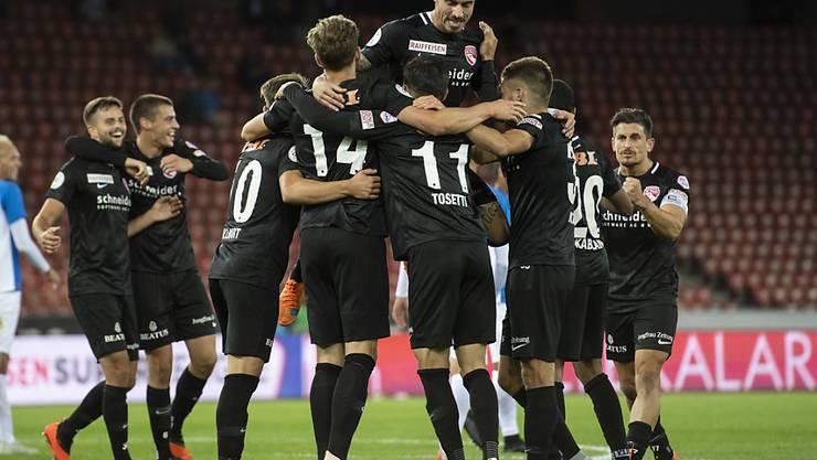 Der FC Thun freut sich im Letzigrund über drei Punkte