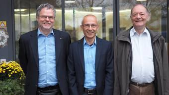 Freuen sich auf die Zusammenarbeit: Geschäftsführer Andre Rotzetter (links), der neue Zentrumsleiter Marco Bellafiore und Vereinspräsident Bernhard Horlacher.