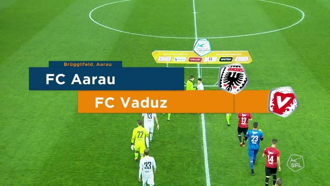Challenge League 18/19 Runde 28: FC Aarau-FC Vaduz 6.4.19. Highlights