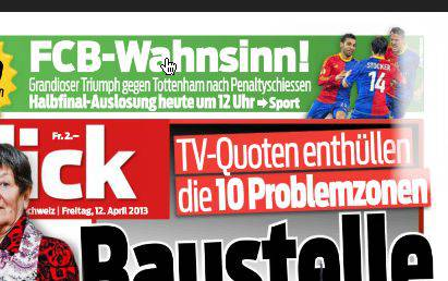 «FCB-Wahnsinn»: Der «Blick» bringt es nach dem gestrigen Penalty-Krimi auf den Punkt.