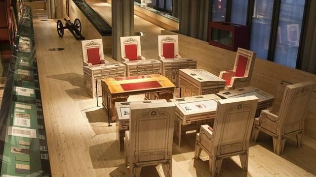Das Bundesratszimmer: Nachgebaut im Landesmuseum Zürich