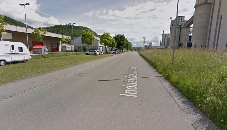 Die Industriestrasse in Würenlingen.