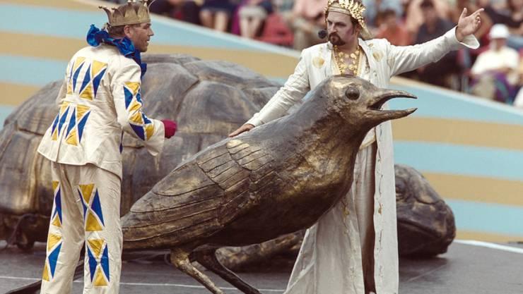 Bild von der Hauptprobe 1999. Die Fête des vignerons in Vevey findet nur rund alle 25 Jahre statt.