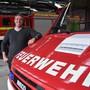 Florian Isenring ist Kommandant der Feuerwehr Brugg. Hier im Magazin am Stahlrain in Brugg.