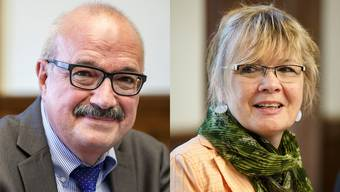 Kurt Henzmann und Doris Häfliger an ihrem letzten Tag im Parlament.