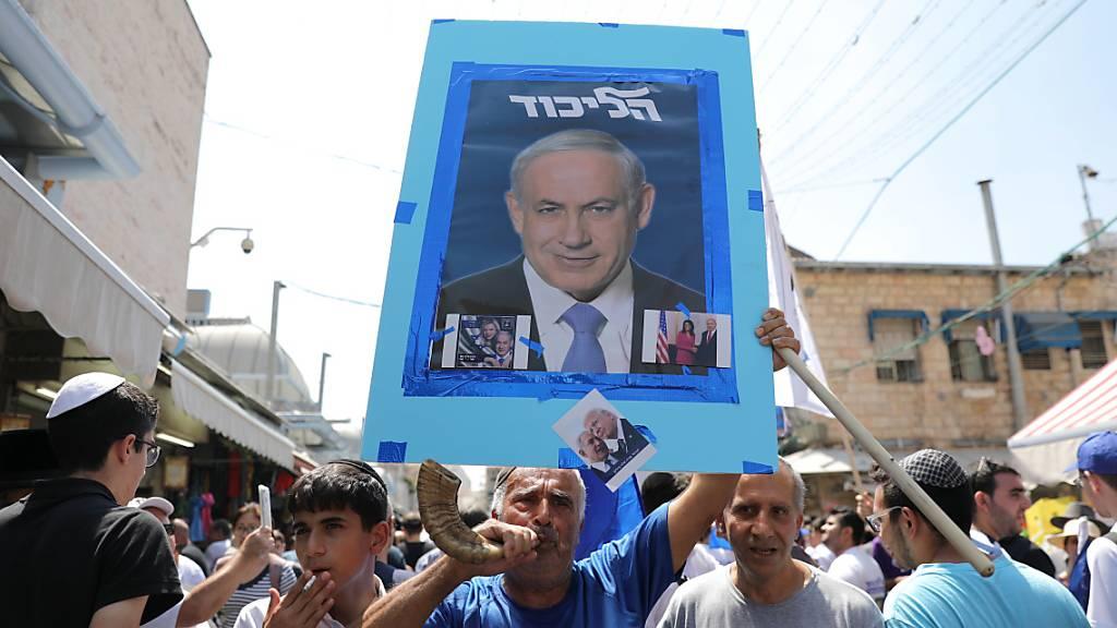 Parlamentswahl in Israel: Es wird am Dienstag ein Kopf-an-Kopf-Rennen zwischen der Likud-Partei des Ministerpräsidenten Benjamin Netanjahu (Bild) und dem Ex-Militärchef Benny Gantz vom Mitte-Bündnis Blau-Weiss erwartet.