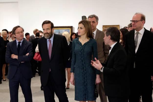 Letizia besucht nur einmal im Jahr eine Eröffnung einer Ausstellung.