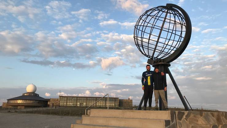 Samuel Willi und Daniel Moser sind am Nordkap angekommen