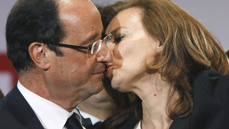 François Hollande mit Valérie Trierweiler (Archivbild).