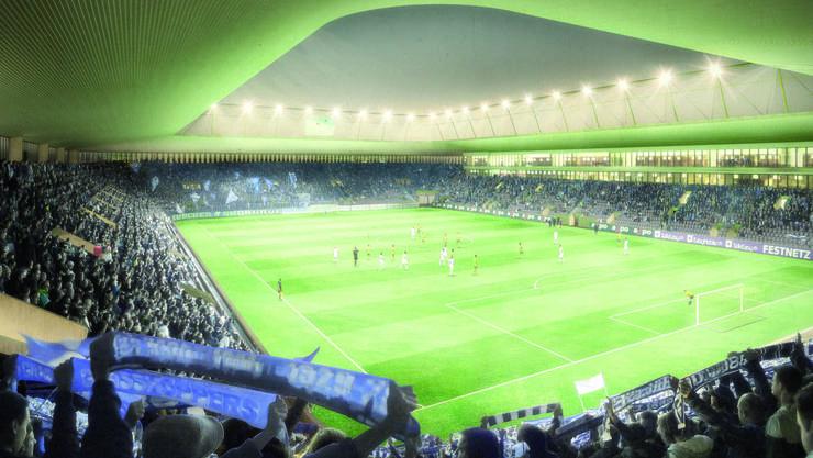 Das neue Hardturm-Stadion in der Visualisierung
