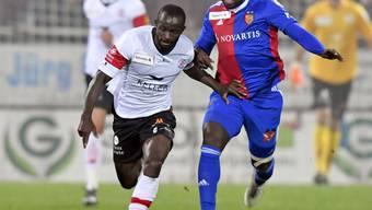 Ousmane Doumbia traf für den FC Winterthur früh den Pfosten und erzielte kurz vor Schluss den Siegtreffer