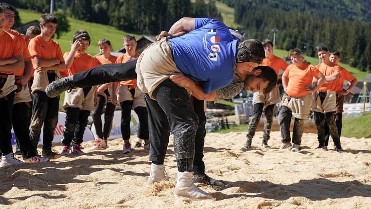 Im Königscamp: Hier lässt sich Nick Alpiger gerne auf den Rücken legen