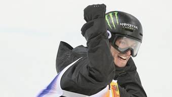 Das Lachen eines Siegers: Iouri Podladtchikov holte sich in Laax den Schweizer Meistertitel. (Archivbild)