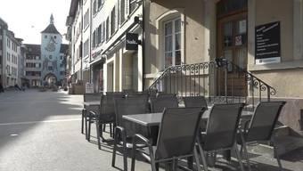 In der Altstadt von Liestal herrscht darum tote Hose. Wie gehen die Einwohner mit dieser noch nie dagewesenen Situation um?