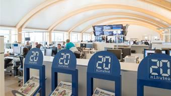 Die Redaktionsräume von «20 Minuten» in Zürich. Keystone