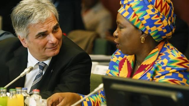 Chefin der Afrikanischen Union, Nkosazana Dlamini-Zuma, in Brüssel