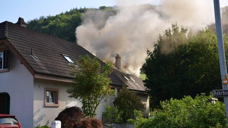 In einem Einfamilienhaus in Gelterkinden brach am Mittwoch ein Feuer aus.