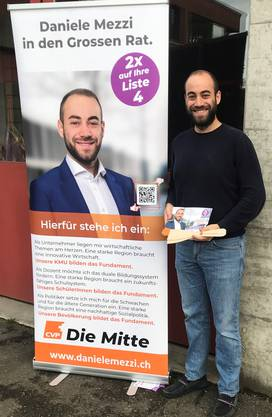 Bild: Daniele Mezzi auf Strassentournee in Laufenburg.