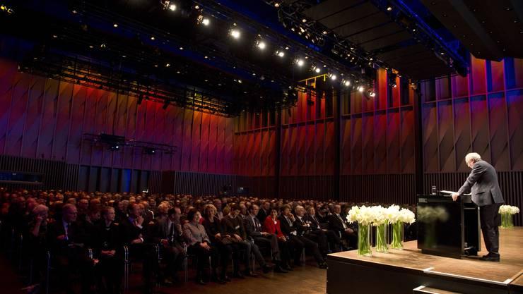 Reinhard Haller packte mit seinem Vortrag das vielhundertköpfige Publikum im Trafo