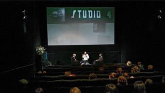 Das Stadtkino ist stolz auf seine vielen Livegäste. Stargast Peter Strickland etwa (Bildmitte) war letzten Sommer anlässlich des Filmfestivals Bildrausch zu Gast.