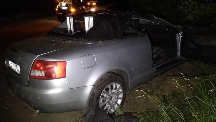 Ein Audi kam zwischen Bremgarten und Unterlunkhofen ins Schleudern.