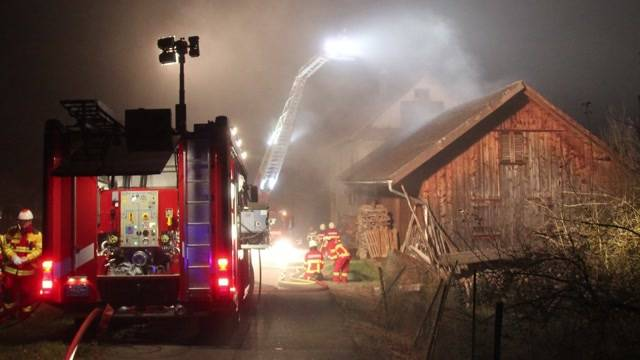 Brandstiftung in Hermetschwil-Staffeln