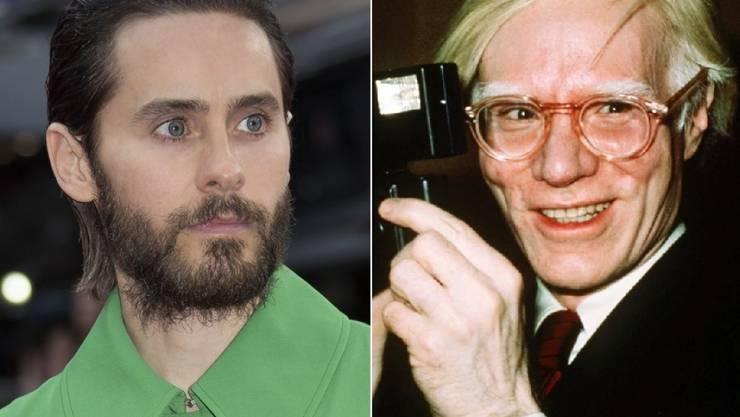 Jared Leto (l) spielt Andy Warhol (r, Archivbilder)