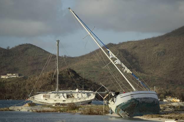 """Auch auf der Insel St. Martin hat """"Irma"""" Boote zerstört."""