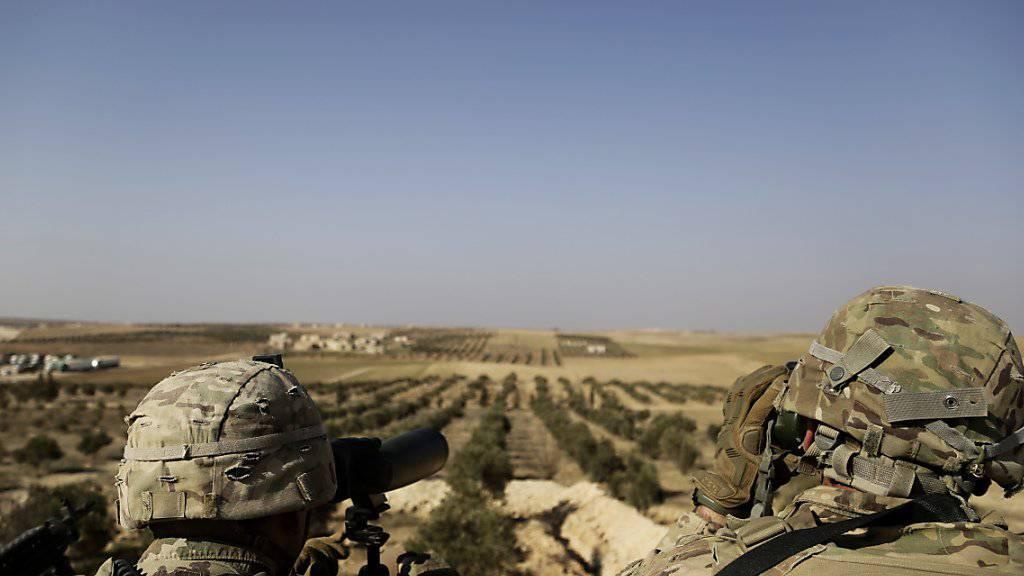 US-Soldaten im Einsatz in Syrien. (Archiv)