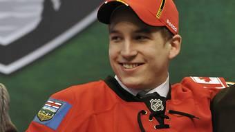 Sven Bärtschi im Dress der Calgary Flames