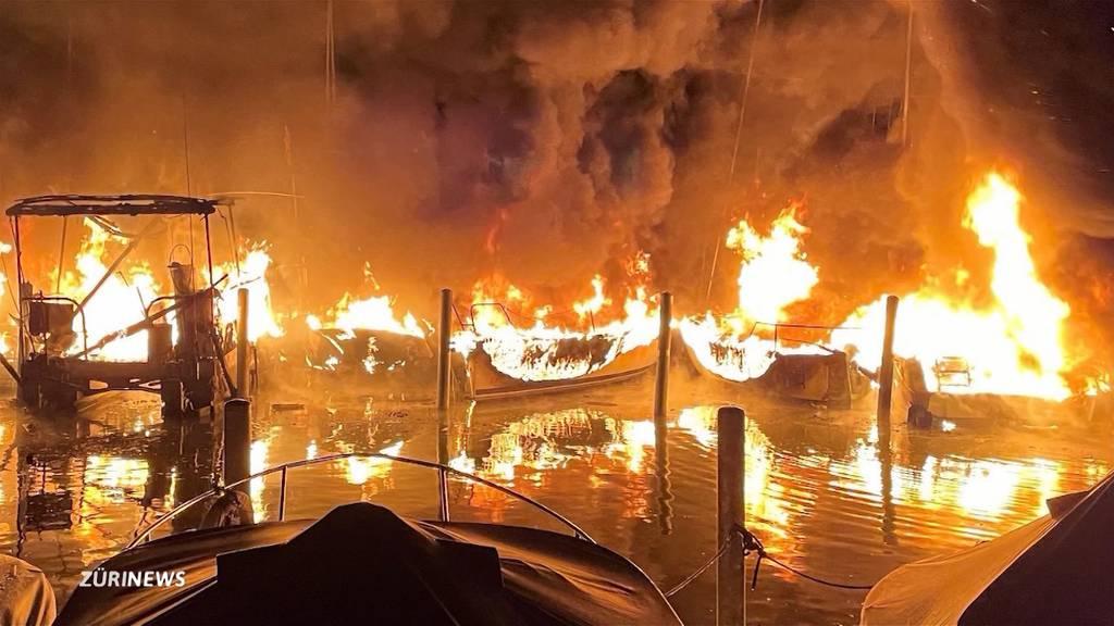 Brand im Lachner Segelhafen hinterlässt Schaden in Millionenhöhe