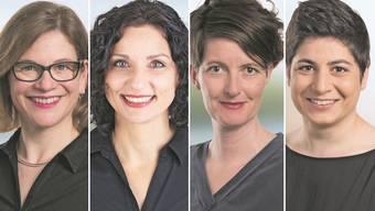 v.l.: Franziska Graf, Gabriela Suter, Leila Hunziker und Silvia Dell'Aquila.