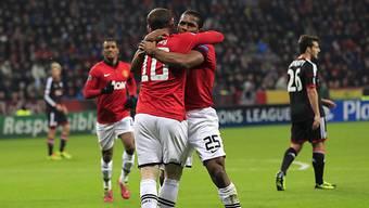 Manchester United feiert Kantersieg auswärts gegen Leverkusen.
