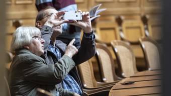Besucher, wie hier im Nationalrat, sind in der kommenden Frühlingssession nicht zugelassen.