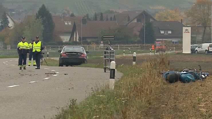 Der Töfffahrer kam beim Unfall von Villigen ums Leben