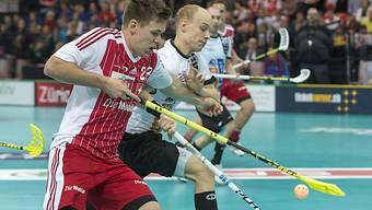 Philipp Fankhauser (links) gegen den Deutschen Sebastian Bernieck