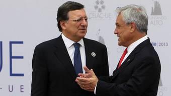 Der chilenische Präsident Sebastiàn Piñera und EU-Kommissar José Manuel Barrosoi