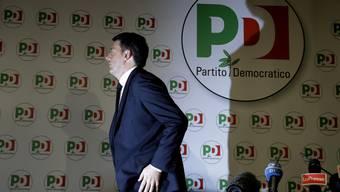 Zieht die Konsequenzen aus dem Wahldebakel in Italien: Matteo Renzi tritt vom Parteivorsitz des PD zurück.
