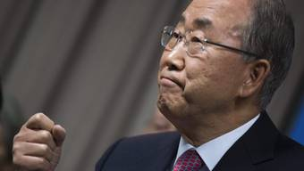UNO-Generalsekretär Ban Ki Moon vor den Medien (Archiv)