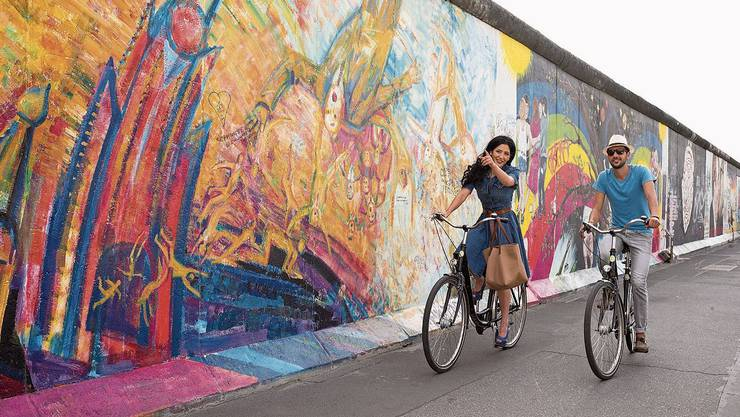 In drei Tagen lässt sich der Mauerweg mit dem Velo abfahren. Bild: Philipp Koschel